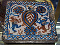Valencia, mattonella con stemma scaglionato, 1490 ca..JPG