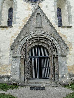 Valjala Church - Main gate