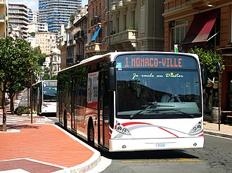 Transport in Monaco - Line 1 with Line 6 behind it