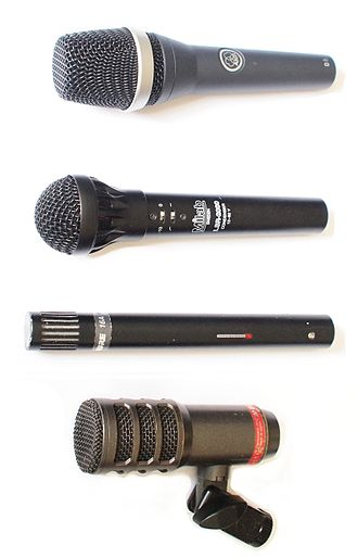 Sound reinforcement system - Audio engineers use a range of microphones for different live sound applications.