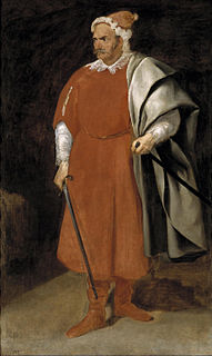 <i>The Jester Barbarroja</i> painting by Diego Velázquez