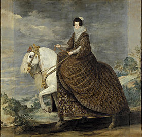 Image illustrative de l'article La Reine Isabelle de France à cheval