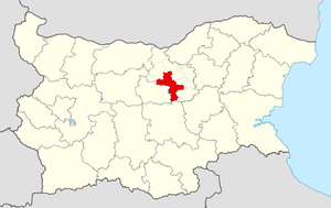 Veliko Tarnovo Municipality - Image: Veliko Tarnovo Municipality Within Bulgaria
