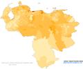 Venezuela 2011 Black and Afrodescendant population proportion map.png