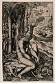 Venus pulling a thorn from her foot in an elaborate rural se Wellcome V0016584.jpg