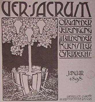 Ver Sacrum (magazine) - Alfred Roller (1898), Cover of the first issue of Ver Sacrum