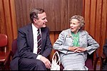 Vice President George Bush meets with his mother, Dorothy Walker Bush, while campaigning in Miami, Florida.jpg