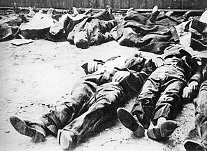 36th Waffen Grenadier Division of the SS - Polish civilians murdered in the Wola massacre. Warsaw, August 1944