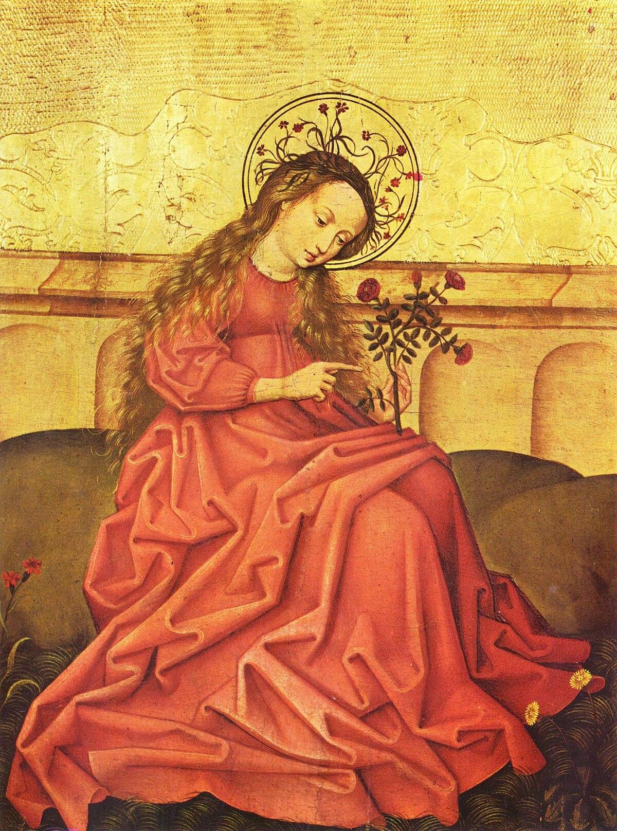 Maitre De L Oeuvre file:vierge au jardinet, maître rhénan anonyme, musée de l