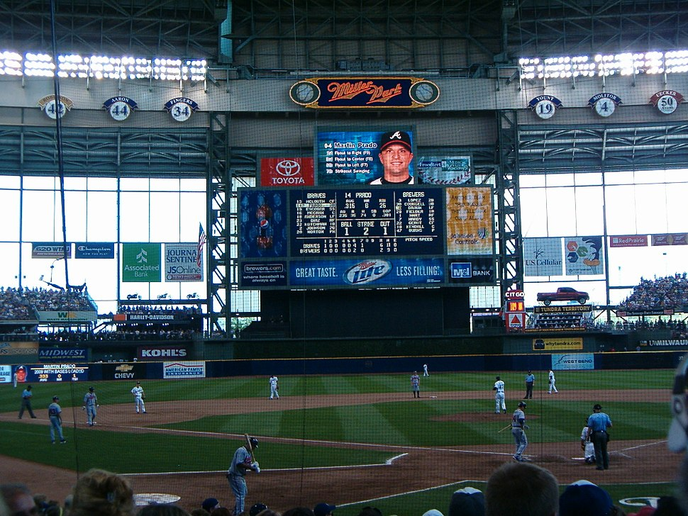 View behind home plate at Miller Park