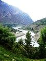 View from Gandhola Monastery down the Chenab river. Lahaul.jpg