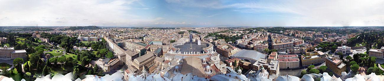Vistas desde la cúpula de San Pedro.