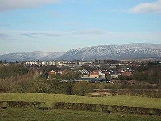 Blairlinn settlement in North Lanarkshire, Scotland