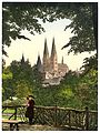 View from wall towards Mary's Church, Lubeck, Germany-LCCN2002713935.jpg