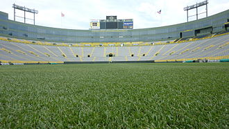 Lambeau Field - View of Lambeau Field from the South end zone