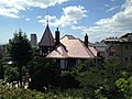View of Thomas House from Kitano Temman Shrine in Kitano-cho, Kobe.JPG