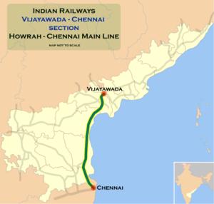 Vijayawada–Gudur section - Image: Vijayawada Chennai route