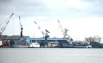 Cochin Shipyard - INS Vikrant being built at Cochin Shipyard in 2017