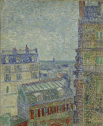 View of Paris from Vincent's Room in the Rue Lepic - Image: Vincent van Gogh View from Theo's apartment Google Art Project