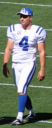 Vinatieri walking onto the field