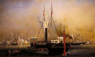HMY Victoria and Albert - Image: Visite de la reine Victoria au Tréport, 2 septembre 1843 Eugène Isabey