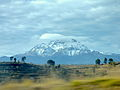 Vista del Iztaccíhuatl desde la autopista México-Puebla. 01.JPG