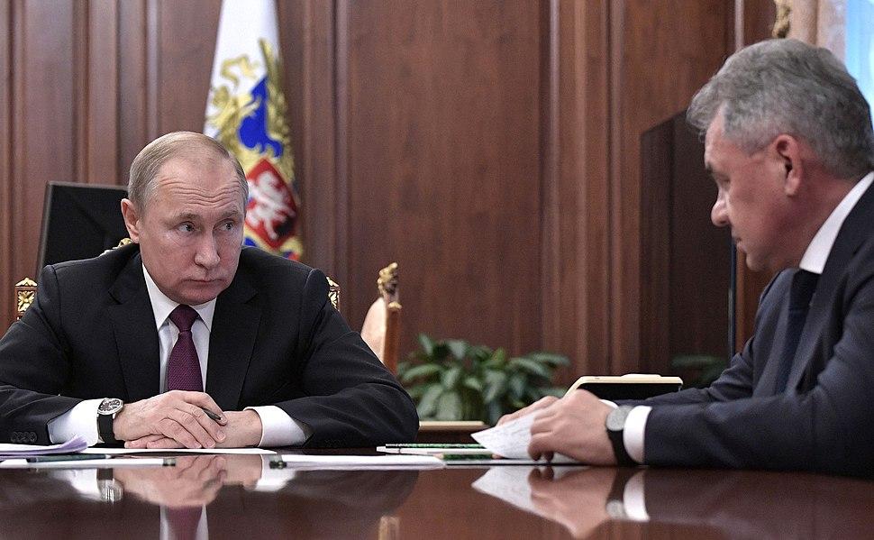 Vladimir Putin, Sergei Lavrov and Sergei Shoigu (2019-02-02) 06