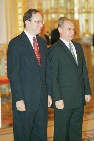 Alexander Vershbow - Then-Ambassador Vershbow with Russian President Vladimir Putin in October 2001