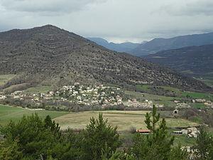 Mirabeau, Alpes-de-Haute-Provence - A general view of the village of Mirabeau