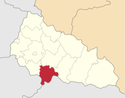 Location of Vinohradivas rajons