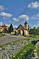 Vyschlé koryto potoka Valchovka a kaple svatého Petra a Pavla, Valchov, okres Blansko (02).jpg