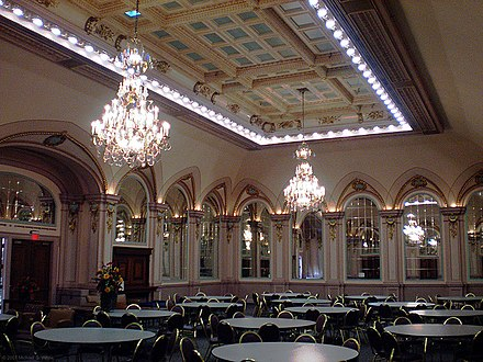 The restored Louis XV mirrored ballroom of the Beaux-Arts styled William Pitt Union WPUballroom.jpg