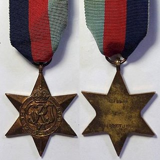 1939–1945 Star United Kingdom military campaign medal for service in the Second World War