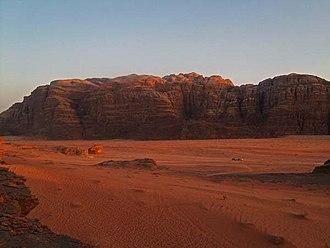 Geography of Jordan - Wadi Rum in Southern Jordan.