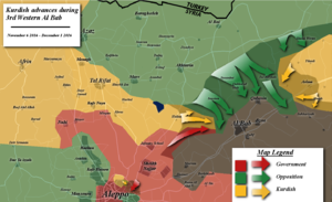 Battle of al-Bab - Map of the battle up to December 1