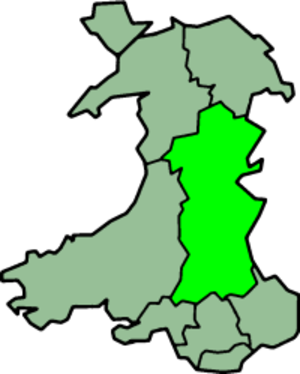Powys - Powys from 1974–1996.