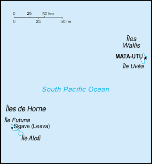 Outline of Wallis and Futuna - An enlargeable map of the French Overseas Collectivity of the Wallis and Futuna Islands