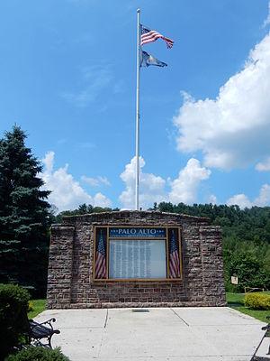 Palo Alto, Pennsylvania - War Memorial in Palo Alto.