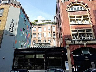Marquee Club - The former site of the Marquee Club in Wardour Street, Soho, London, as it now looks (2018).