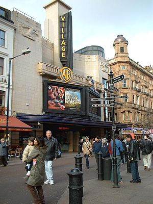 Village Cinemas - A former Warner Village Cinema in Leicester Square, in the West End of London, United Kingdom. These cinemas operated from 1996 until 2004, and are now part of the Vue network of multiplexes.