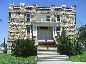 Waterville, Kansas - Waterville Opera House, built in 1904.