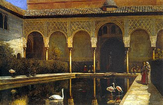 Alhambra - A Court in the Alhambra at the Time of the Moors, Edwin Lord Weeks, 1876