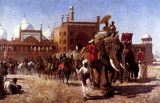 The Return Of The Imperial Court From The Great Mosque At Delhi