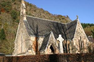Weem - The Victorian church at Weem