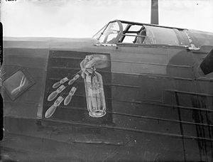 No. 75 Squadron RAF - Nose art on a 75 Squadron Wellington at RAF Feltwell