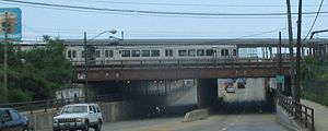 Red Line (Cleveland) - A Red Line train at West 117th-Madison station.
