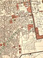 Western Wall area and Moroccan Quarter in the Old City of Jerusalem map by Survey of Palestine map 1-2,500 (cropped).jpg