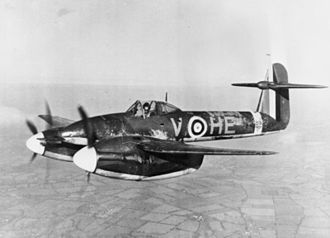 Westland Whirlwind (fighter) - P6969 'HE-V of 263 in flight over the West Country
