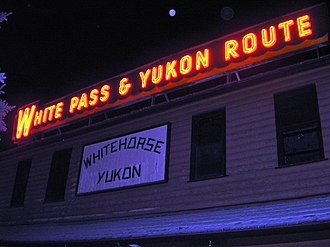 Yukon Quest - The former White Pass and Yukon Route train station in Whitehorse houses the Canadian offices of Yukon Quest International and is next to the Whitehorse end of the race.