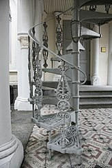 Spiral Stairs With Ornamental Balusters.